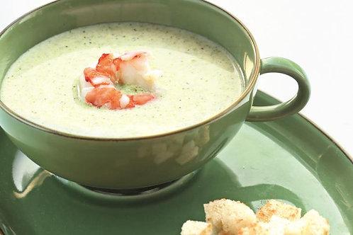 Суп из брокколи с креветкой