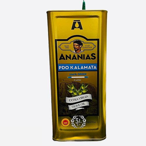 Ananias Kalamata PDO Extra Virgin Olive Oil - 5L