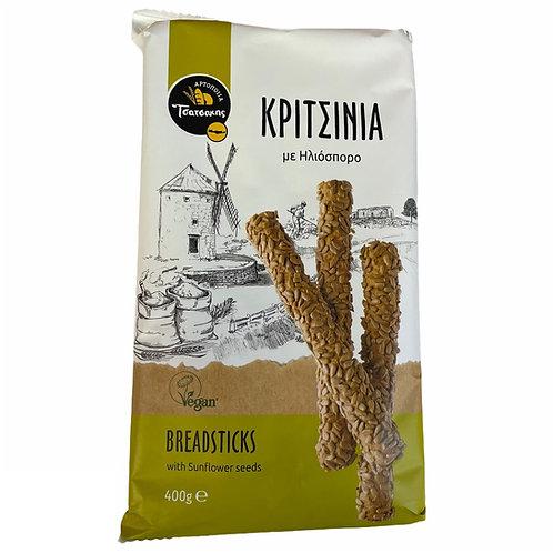 Tsatsakis Breadsticks with Sunflower seeds - 400gr