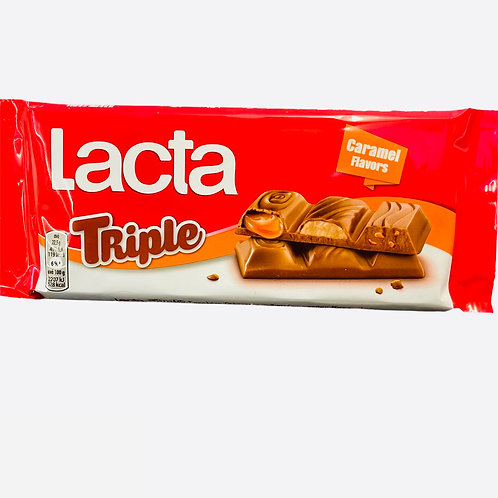 Lacta Milk Chocolate Triple Caramel 90gr
