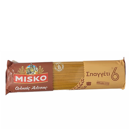Misko whole wheat Spaghetti No.6 - 500gr