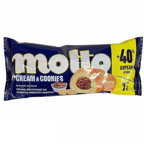 Molto Croissant Cream & Cookie Praline - 110gr +40%