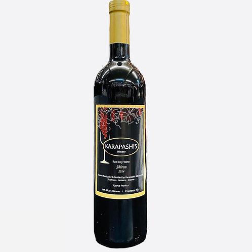 Karapashis Shiraz Dry Red wine - 750ml