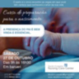 Workshop para mães e pais d prieira viagem