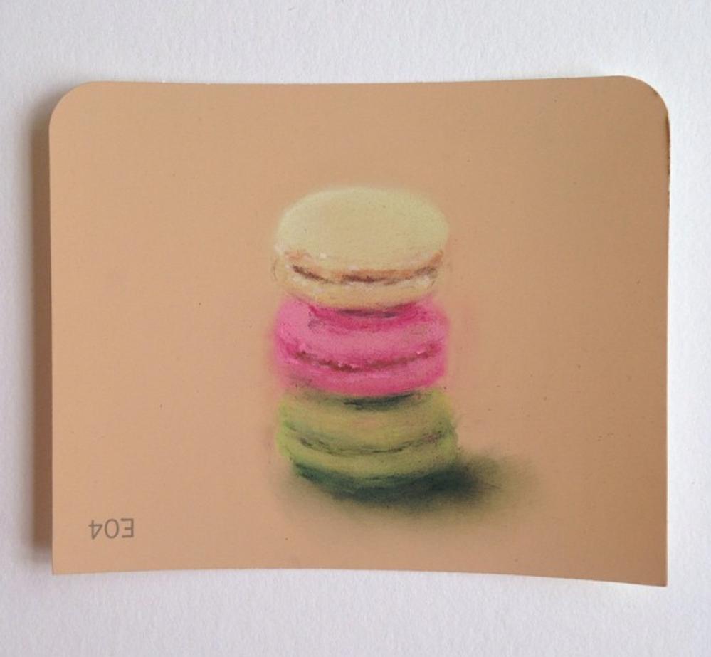 Macarons Pastel on Martha Stewart Paint chips Framed