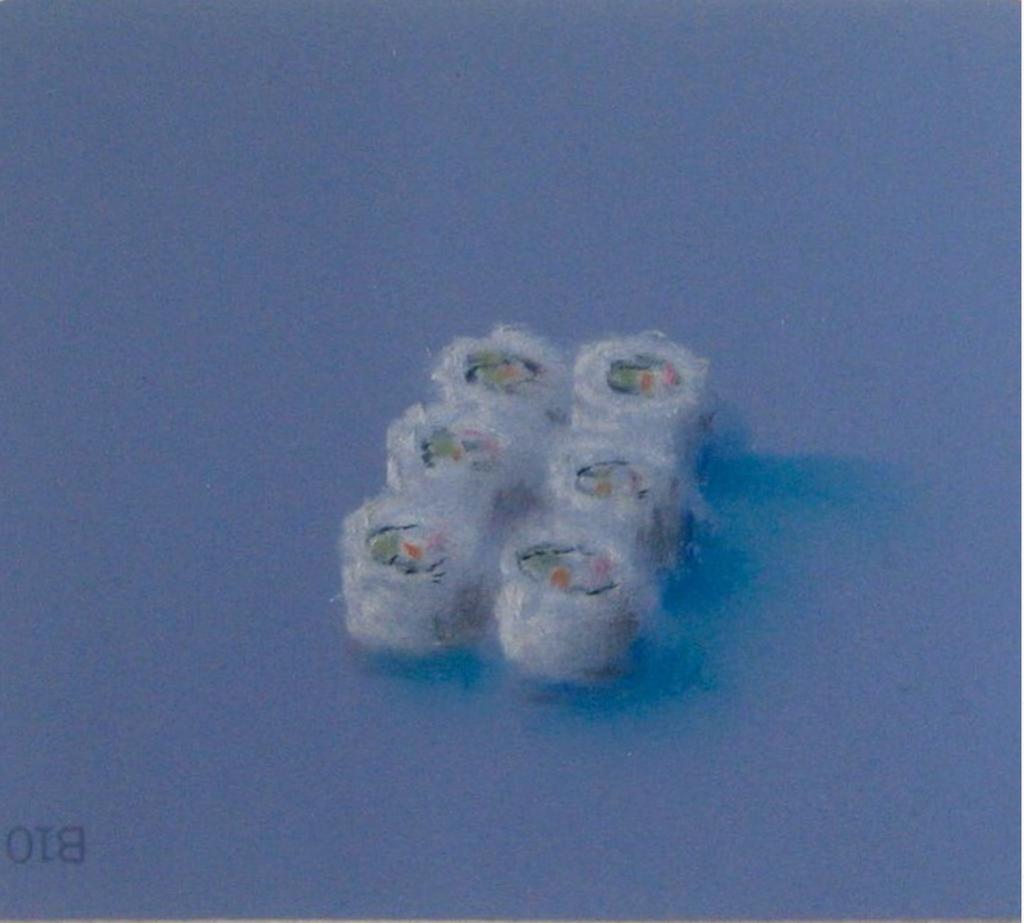 Sushi Pastel on Martha Stewart Paint chips Framed