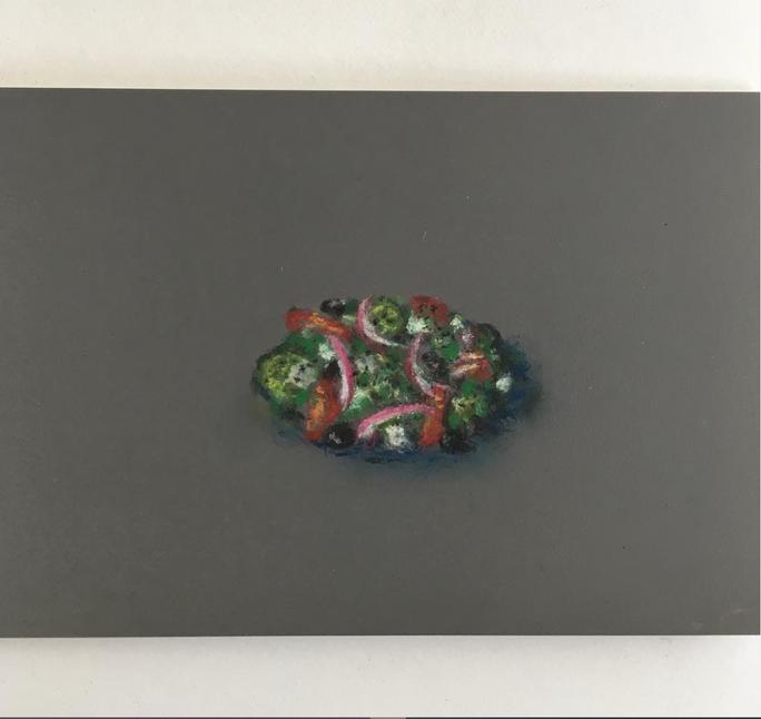 Greek Salad Pastel on Martha Stewart Paint chips