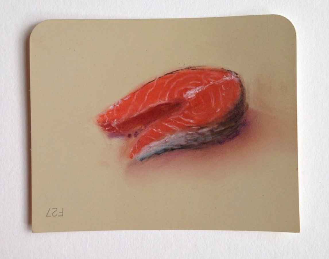 Salmon Pastel on Martha Stewart Paint chips Framed