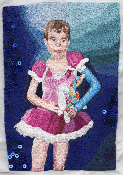 Detail of Portrait of My Seven Year Old Self Playing Dress-Up