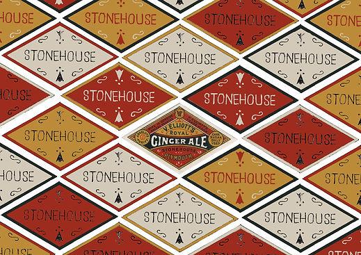Ginger Ale label Stonehouse label design