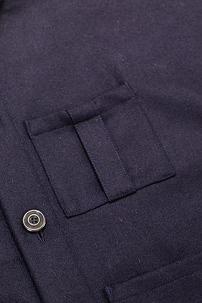 Stonehouse Union British wool navy jacket box pleat chest pocket