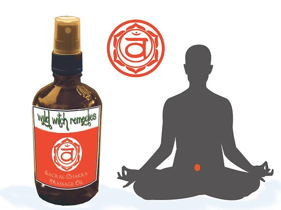 Sacral Chakra Massage Oil