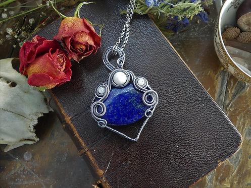 Collier ~Démétra~ Lapis Lazuli