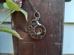 Collier ~Démétra~ Ammonite sur mesure