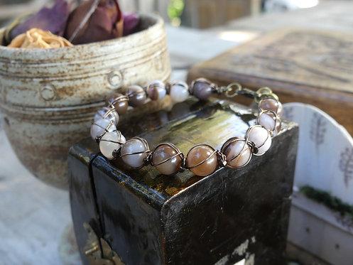 Bracelet ~Aralia~ Agate Crazy Lace