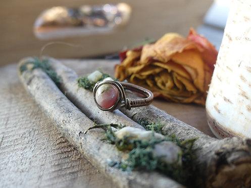 Bague ~Arwen~ Opale Rose