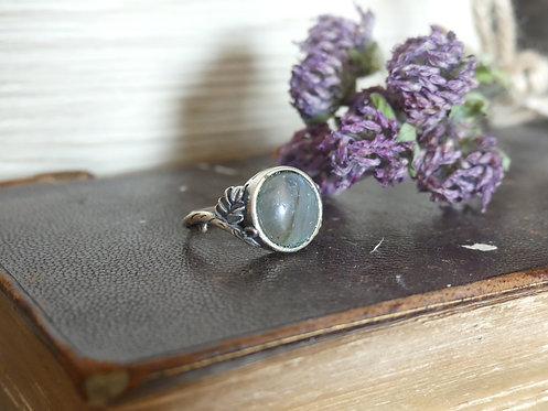 Bague ~Silver~ Labradorite ronde (Réglable)