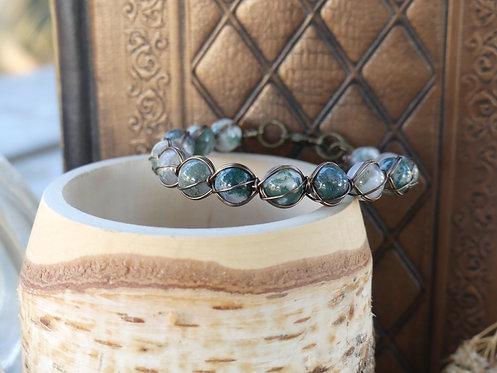 Bracelet ~Aralia~ Agate Arbre