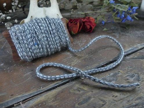 Cordon ~Aevi~ gris clair et gris foncé - Morceau de 6 mètres