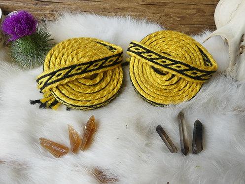 Duo de galons ~Oseberg~ tons jaune et noir
