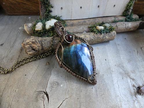 Collier ~Démétra~ Labradorite Bleue