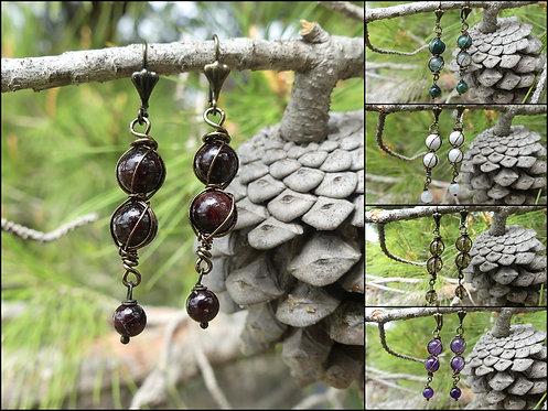 Boucles d'oreilles ~Sybaris~ Version Bronze