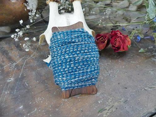 Cordon ~Aevi~ Bleu et gris - Morceau de 10 mètres