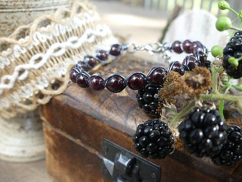 Bracelet ~Aralia~ Grenat