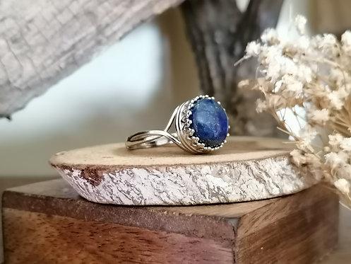 Bague ~Silver~ Lapis Lazuli (réglable)