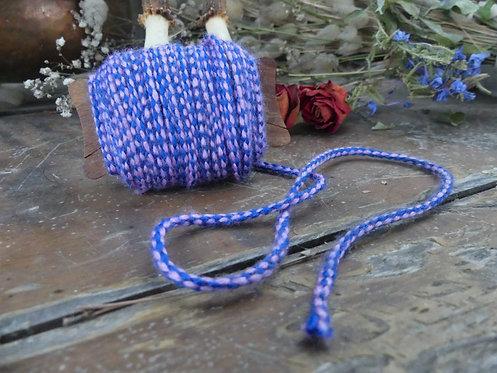 Cordon ~Aevi~ Rose et violet, morceau de 3 mètres