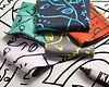 Illustrated colored textile by Shantell Martin