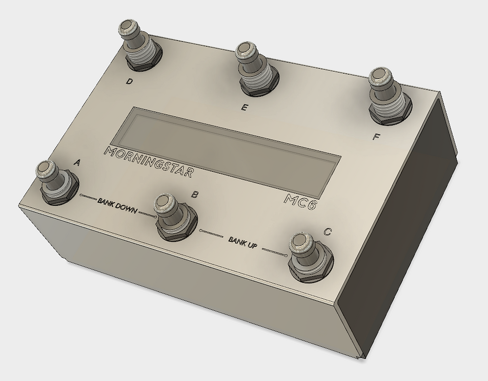3D render of the MC6 MKII