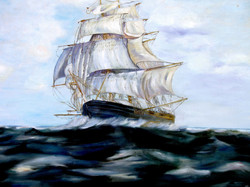 Clipper Ship After the Storm
