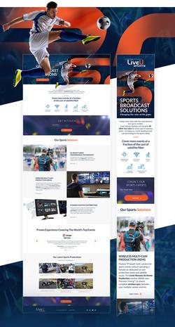 LiveU sport landing page