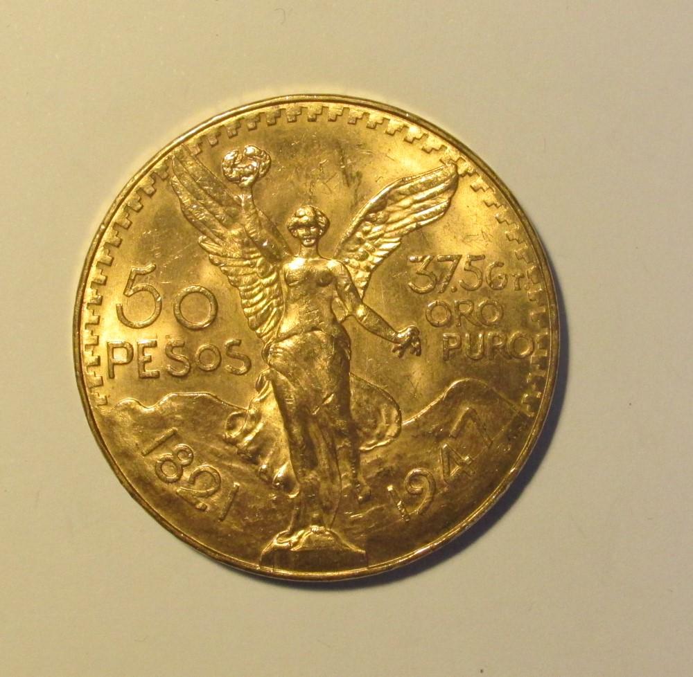 1 pièce 50 pesos or