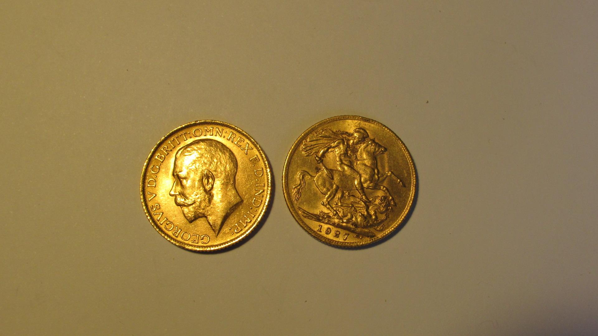 2 pièces SOUVERAINS or