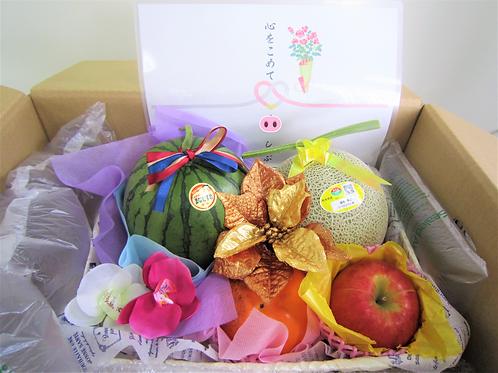 お祝いBOX 旬の青果詰合せ (税込み)