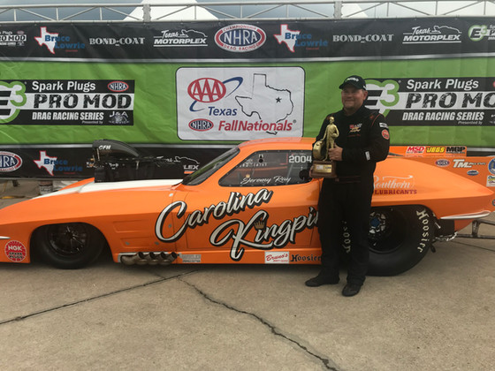 JEREMY RAY WINS FIRST NHRA PRO MOD RACE IN DALLAS