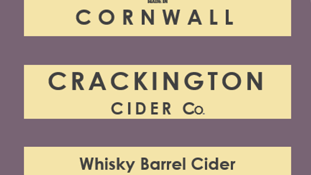 Whisky Barrel Aged Cider case (6 X 1 litre flagon)