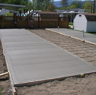 Slab work done for a RV space