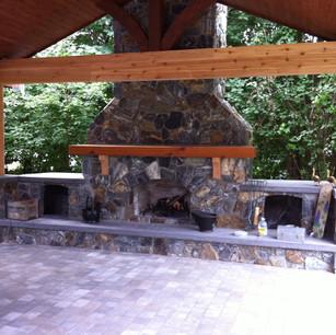 Free standing fireplace all custom design