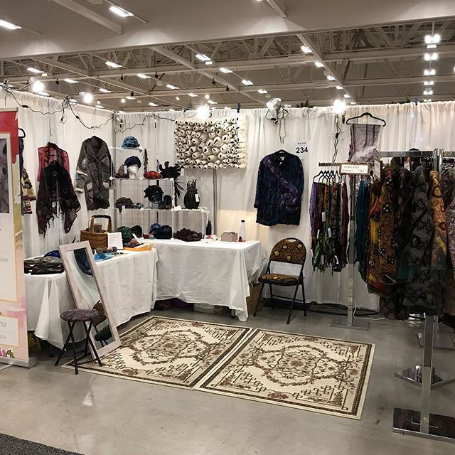 Moments away from opening. My booth look