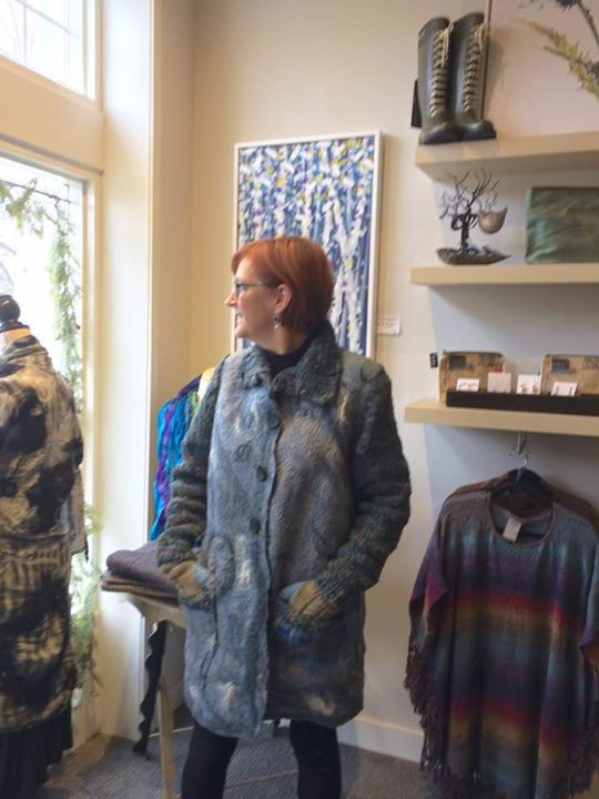 My favourite new felted coat. It has han