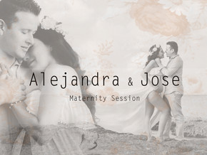 Alejandra and Her Jose | Sunset Maternity Session