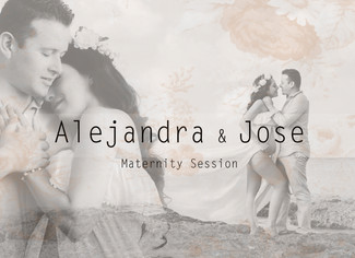 Alejandra and Her Jose | Sunset Maternity Session