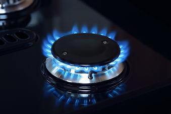 Canva - Natural gas burner flame on stov