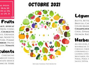 Série : Calendrier de Saisonnalité Naturopathique - 2021