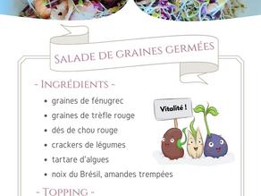 Salade de graines germées !