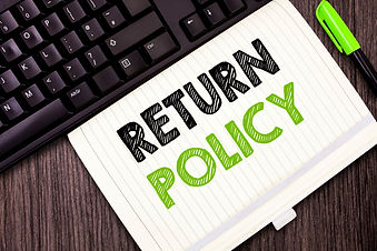 Text sign showing Return Policy. Concept
