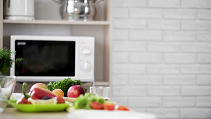 Canva - Kitchen view with microwave oven